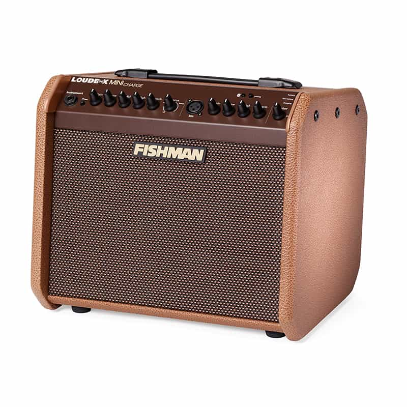 Fishman Loudbox Mini Charge acoustic amp angled left