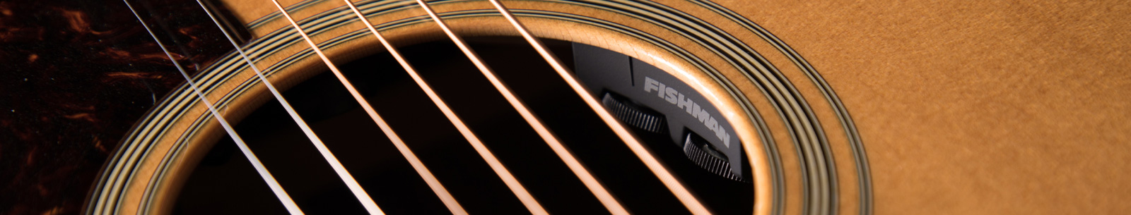 Matrix Infinity Mic Blend Pickup & Preamp System installed on an acoustic guitar soundhole
