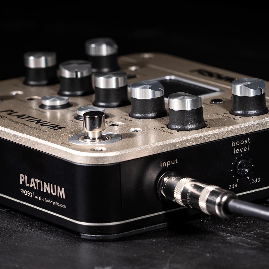 Platinum Pro EQ analog preamp PRO-PLT-201 close up