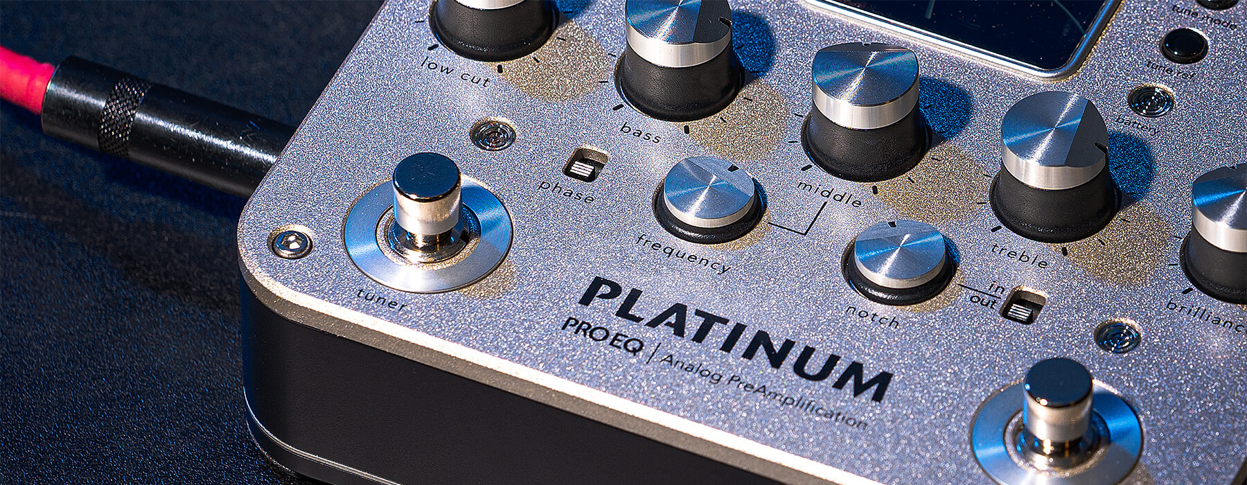 Platinum Pro EQ analog preamp PRO-PLT-201 close up on stage floor