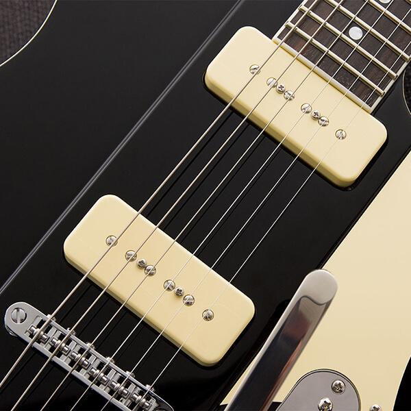 Fishman Greg Koch Gristle Tone P90 cream on guitar