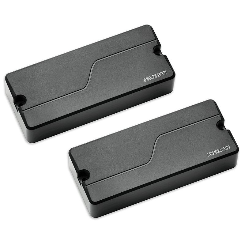 two black Fluence Soapbar 4-string bass pickups