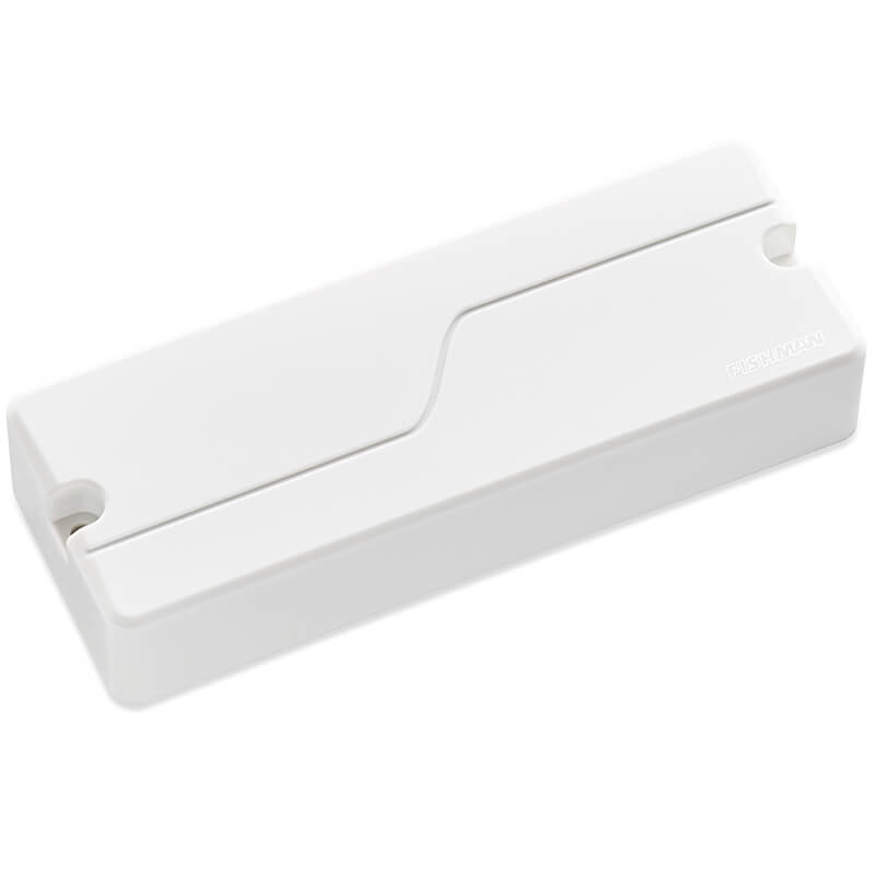 One Fluence 5 string soapbar bass pickup in white