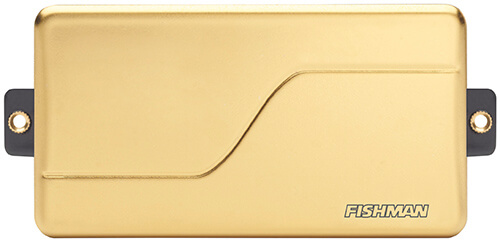front view of Fluence Modern 6-string pickup in gold