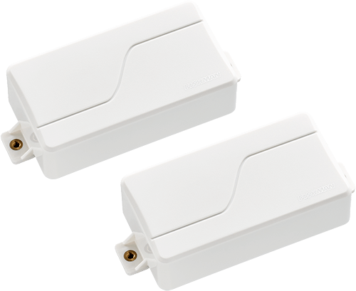 two white Fluence Signature Series Tosin Abasi 6-string pickups model PRF-MS6-TW2