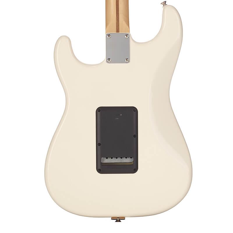 black Fluence battery pack installed on Strat® guitar
